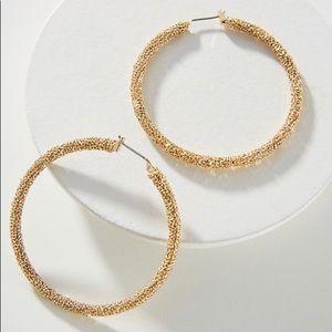 Anthropologie Gold Hoop Earrings